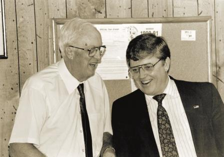 "Bud Frew considered Ray Young to be his mentor. The men formed a close friendship over the years. When asked in a 1979 corporate board meeting about the wisdom of bringing Frew back to MFA, Young would say, ""I can work with Bud Frew."""
