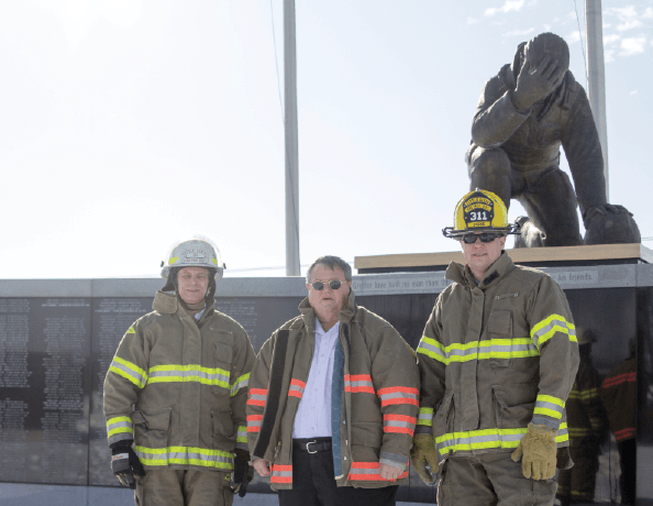 The Little Dixie Fire Protection District is based in Mexico, Mo. Pictured from left are firefighter Bill Friday, Chief Kenneth Hoover and firefighter Brian Stone.